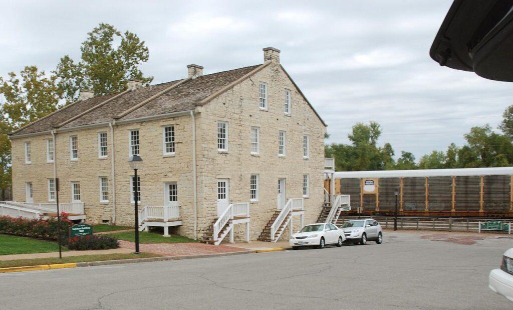 The Lohman Building at the Jefferson Landing Historical Site.