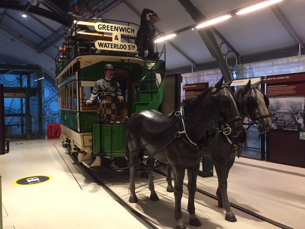 The London Transport Museum near Covent Garden.