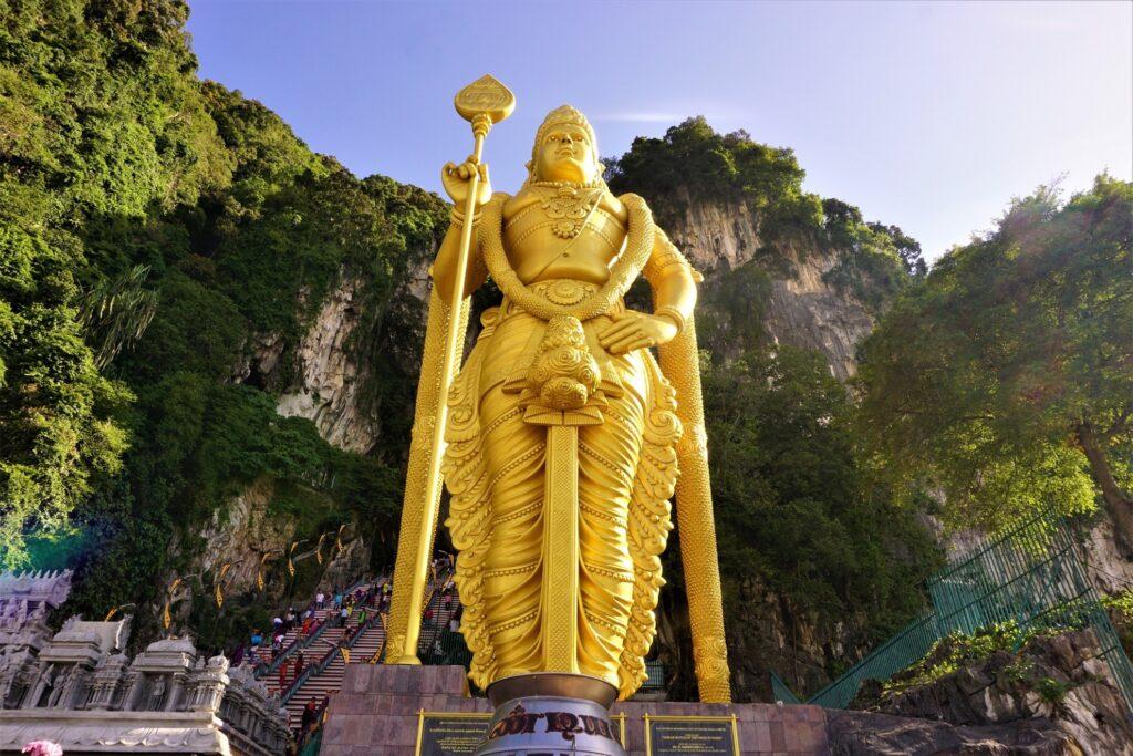 The Lord Murugan statue at the Batu Caves.