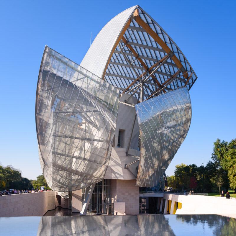 The Louis Vuitton Foundation building in Paris.