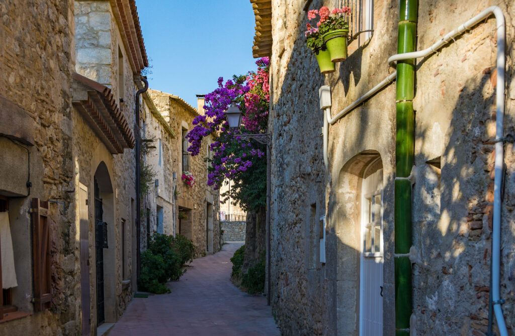 The lovely town of Sant Marti d'Empuries.