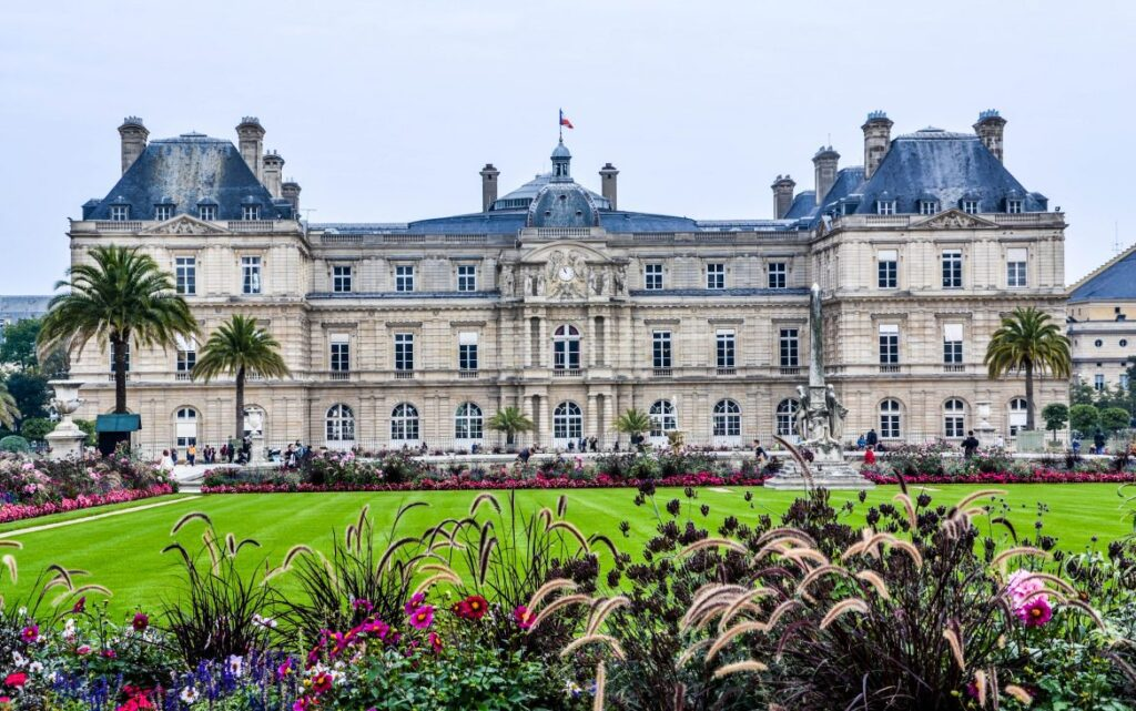 The Luxembourg Gardens in Paris, France.