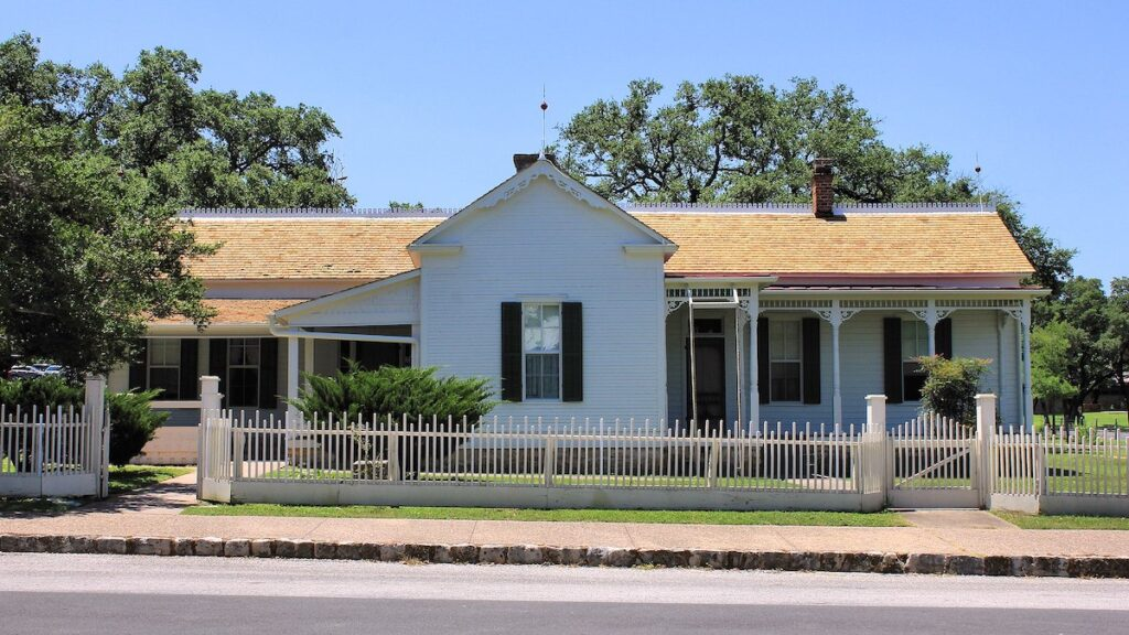 The Lyndon Baines Johnson Boyhood Home.