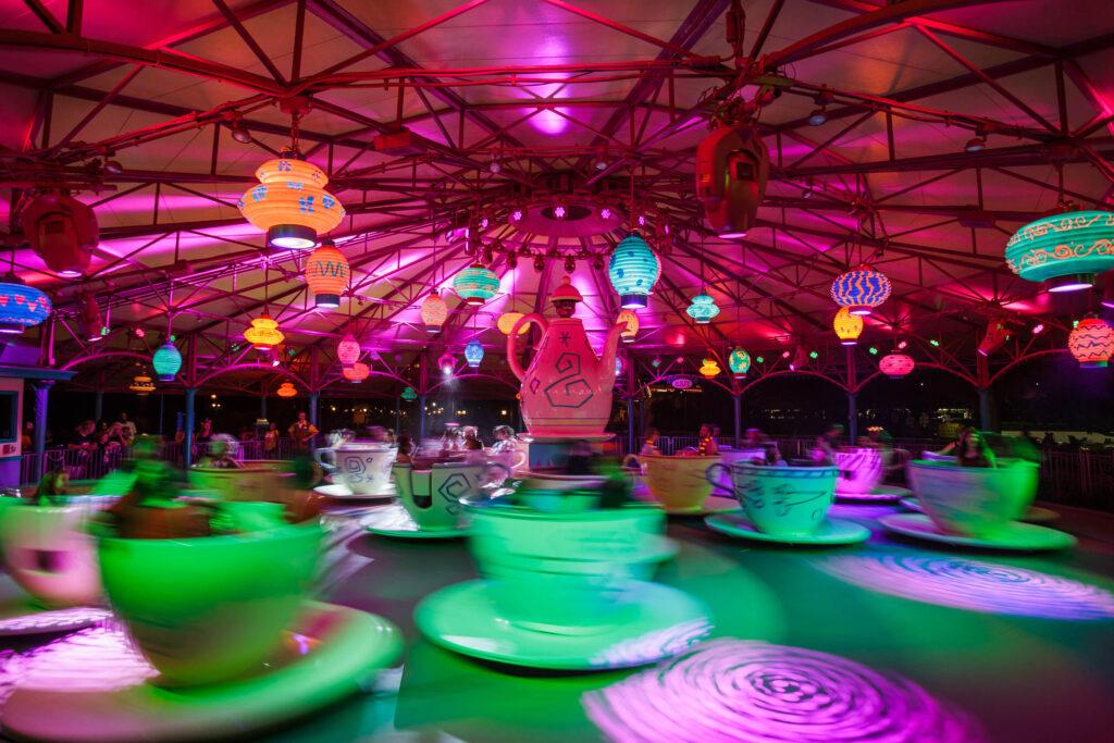 The Mad Tea Party ride at the Magic Kingdom.