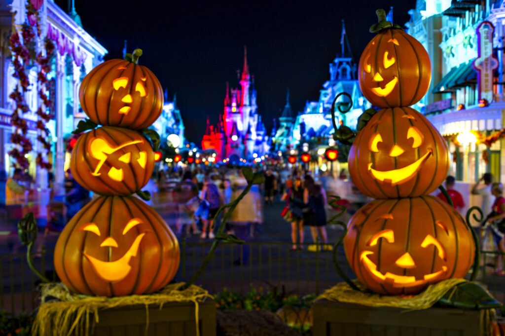 The Magic Kingdom during Halloween.