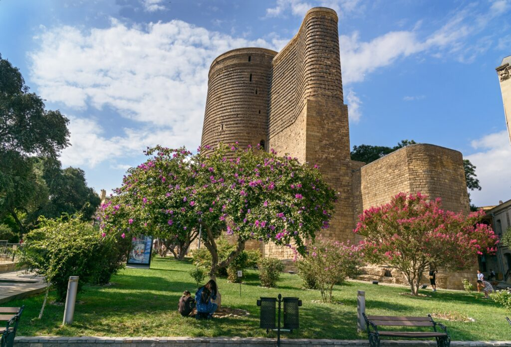 The Maiden Tower in old town Baku.