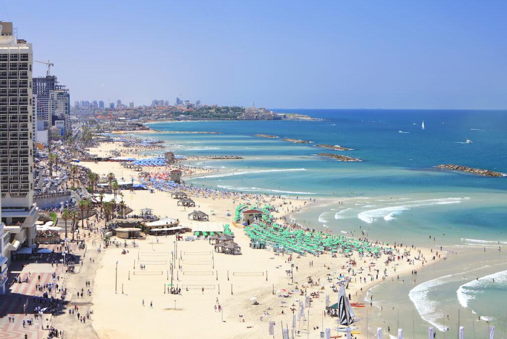 The main beach in Tel Aviv.