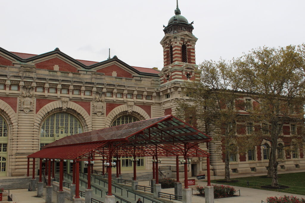 The main building on Ellis Island.