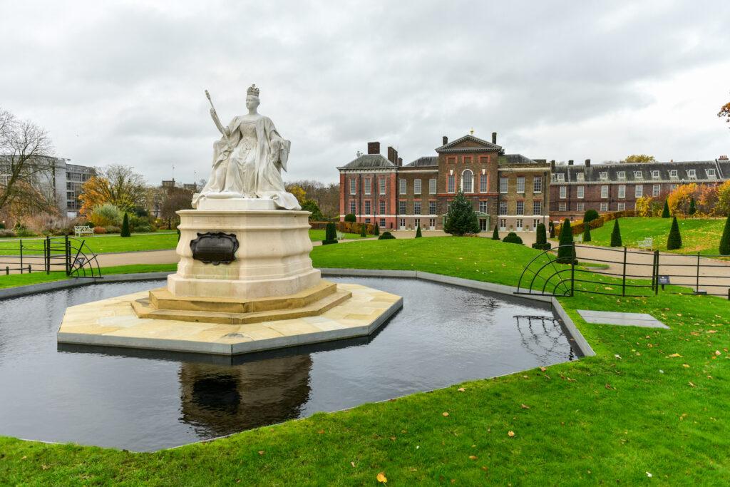 The main entrance to Kensington Palace.