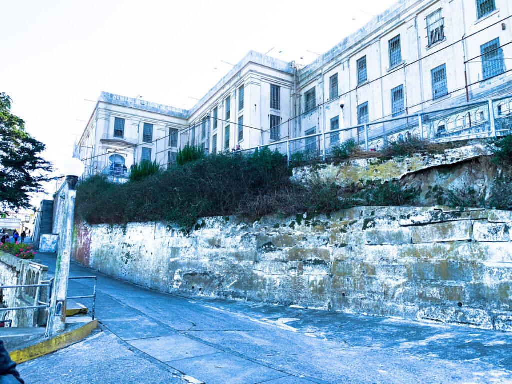 The main prison on Alcatraz Island.