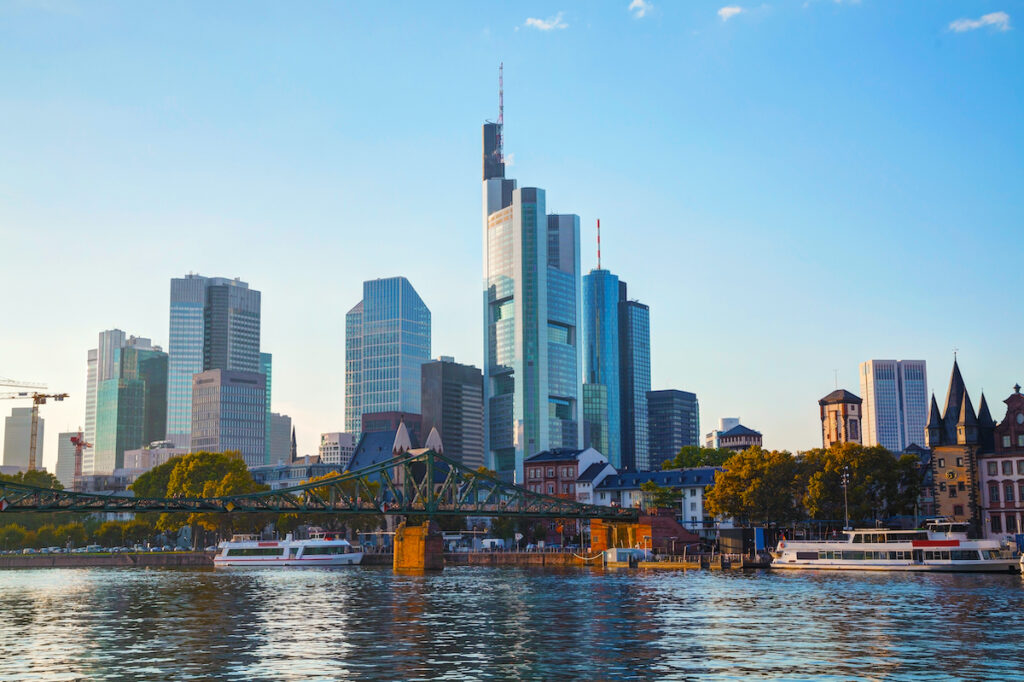 The Main Tower, the tallest building in Frankfurt's skyline.