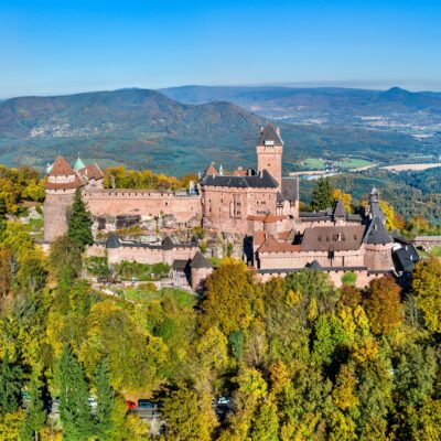 The majestic Haut-Koenigsbourg Castle in France.