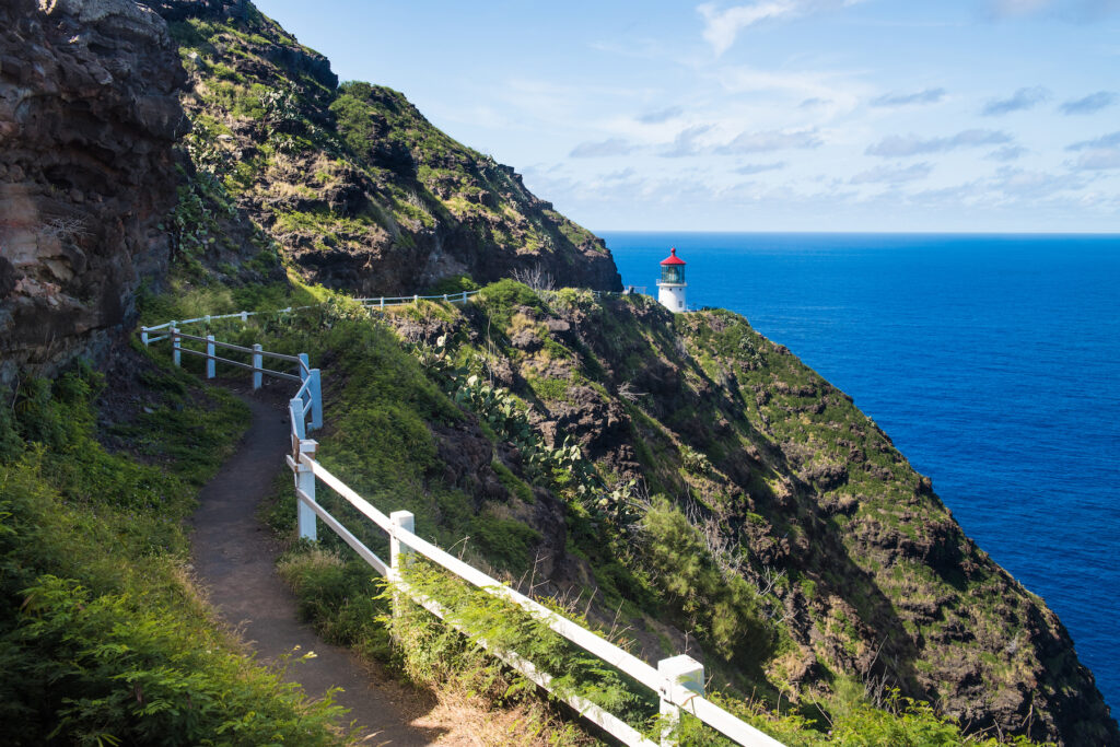 The Makapuu Point Lighthouse Trail in Hawaii.