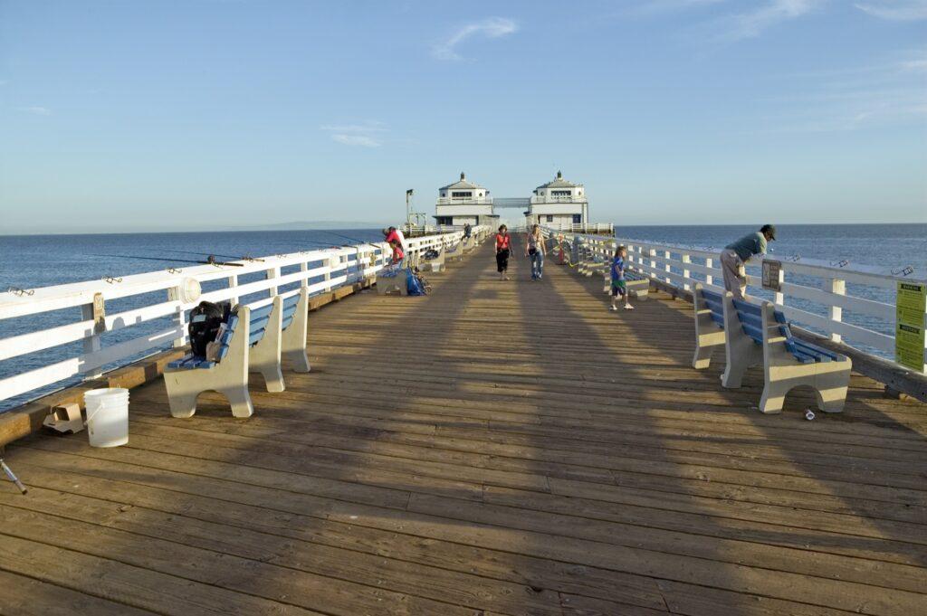 The Malibu Pier in California.