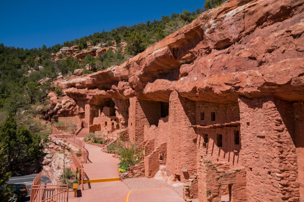 The Manitou Cliff Dwellings in Colorado.