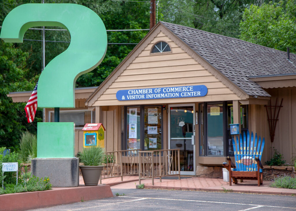 The Manitou Visitor Center in Colorado.