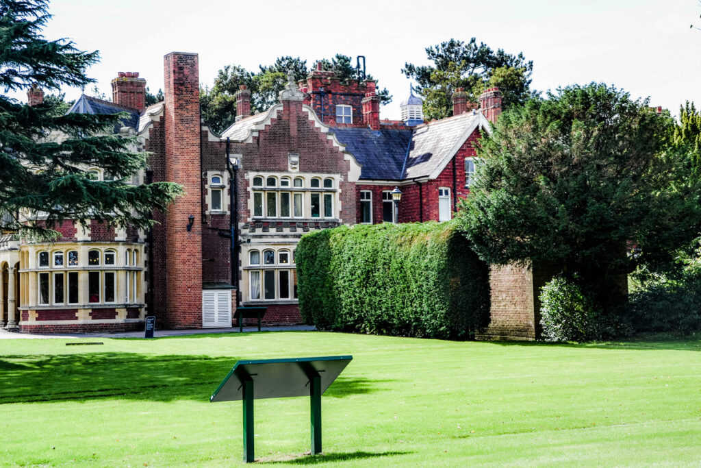 The mansion at Bletchley Park.