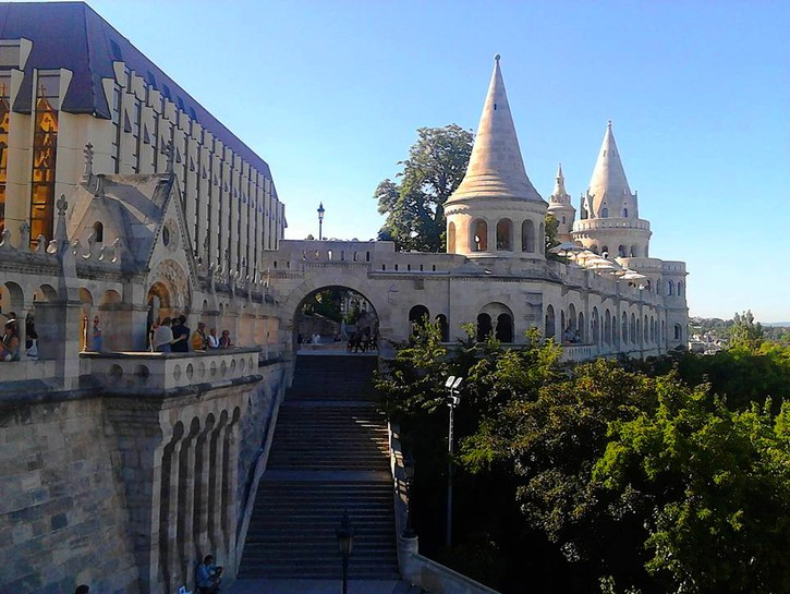 The many lookout points at Fisherman's Bastion, Budpest