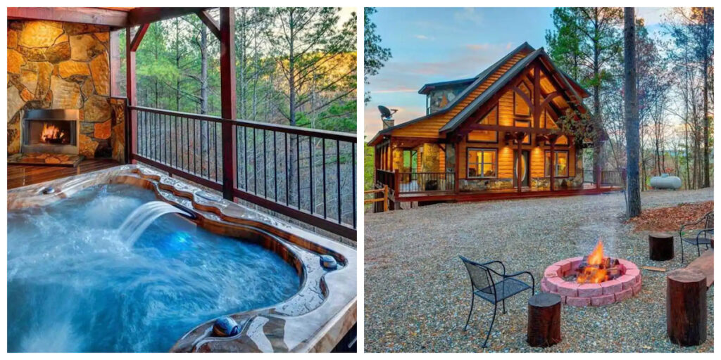 The Marble Canyon Cabin rental in Oklahoma.