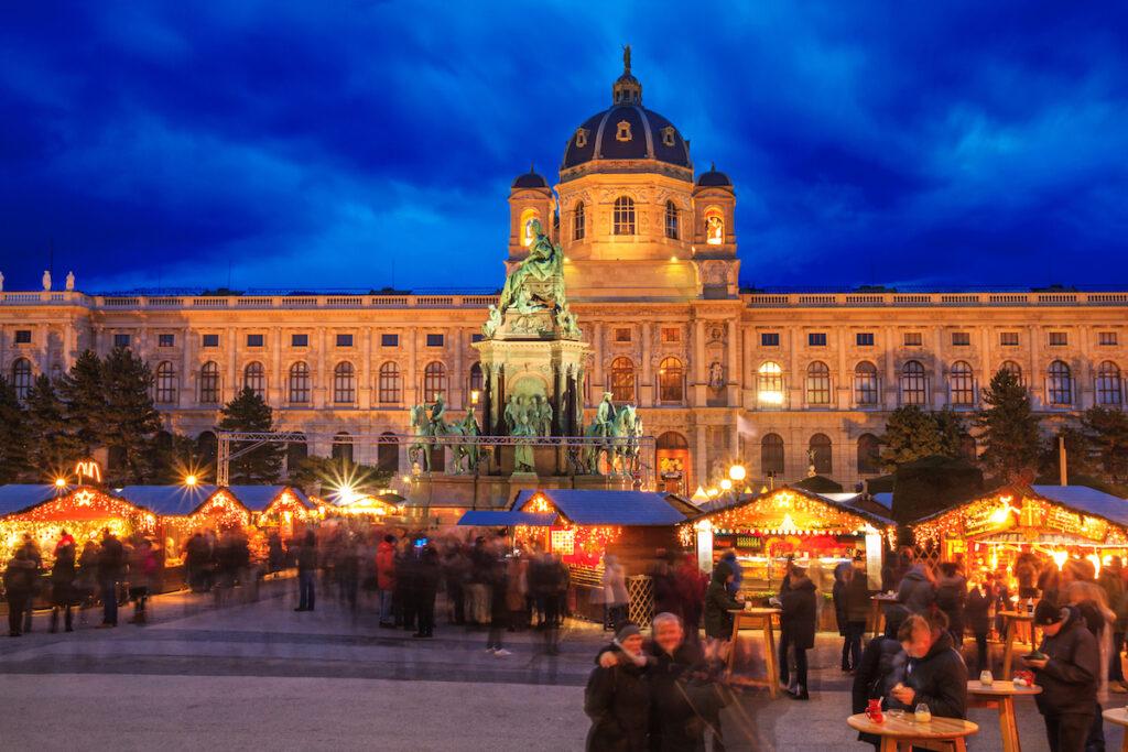 The Maria-Theresien-Platz-Silvesterdorf Market in Vienna.