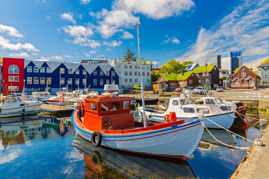 The marina at Torshavn, Denmark.