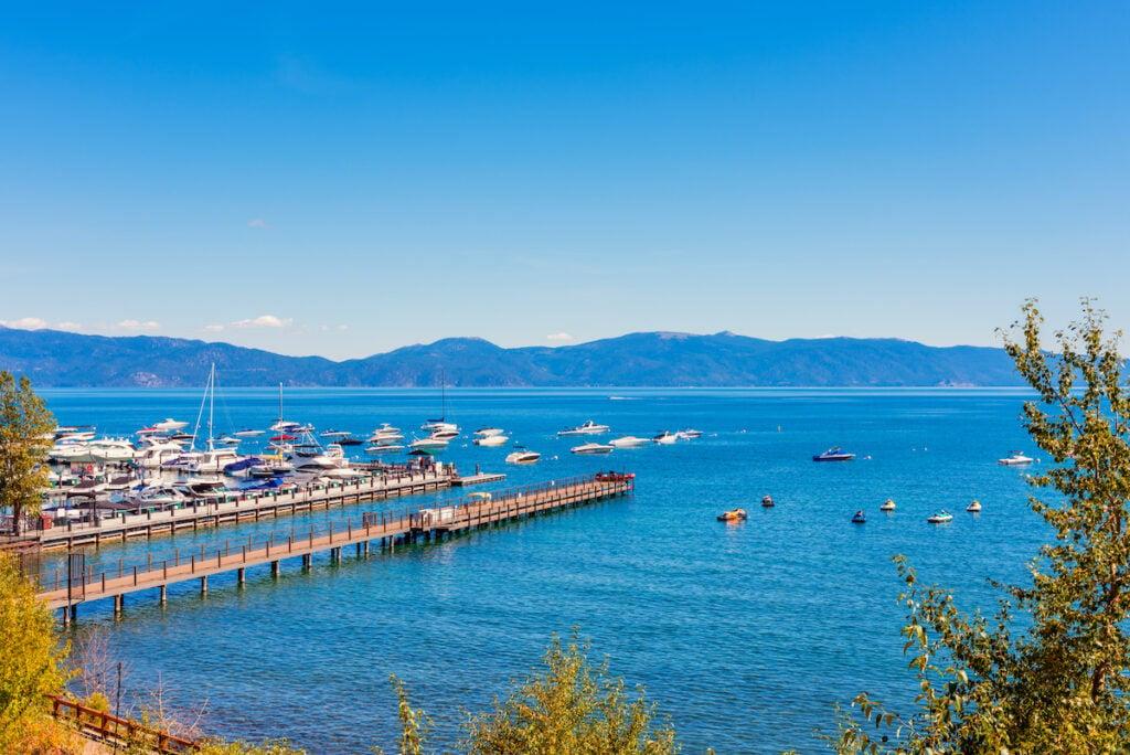 The marina in Tahoe City, California.
