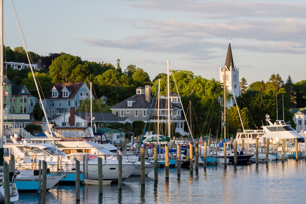 The marina on Michigan's Macinac Island.