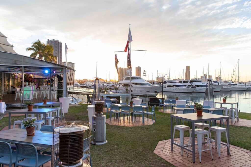 The Marina Restaurant at Southport Yacht Club.