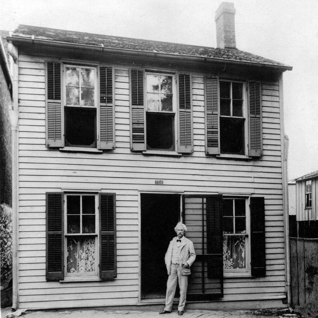 The Mark Twain Boyhood Home in Hannibal.
