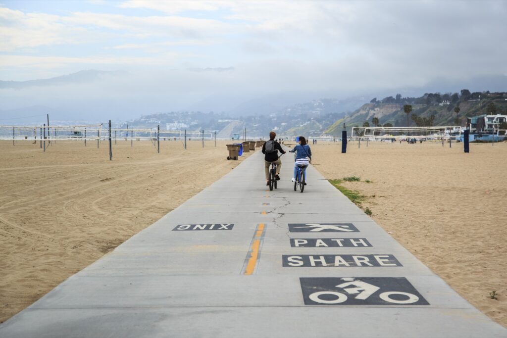 The Marvin Braude Bike Trail in Santa Monica.