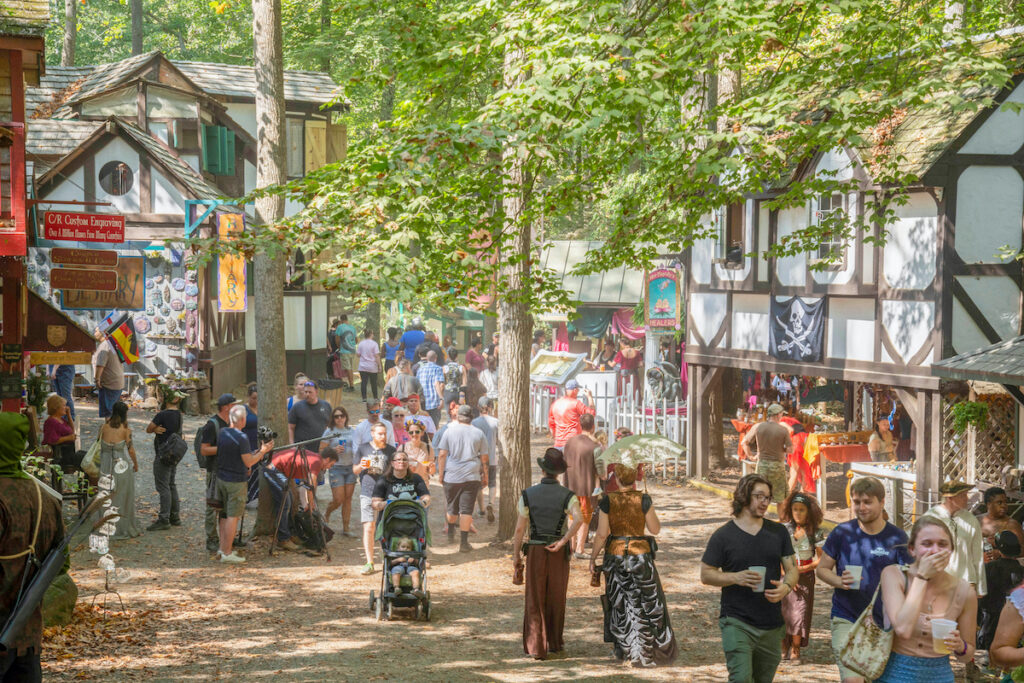 The Maryland Renaissance Festival in Crownsville.
