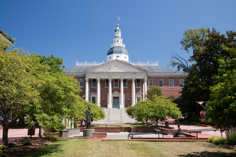 The Maryland State House in Annapolis.