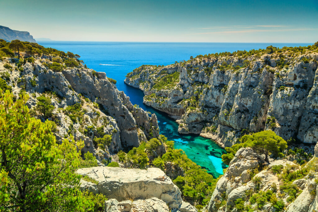 The Massif des Calanques in France.