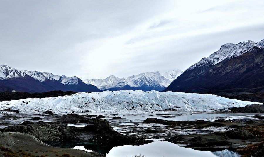 The Matanuska Glacier in Alaska.