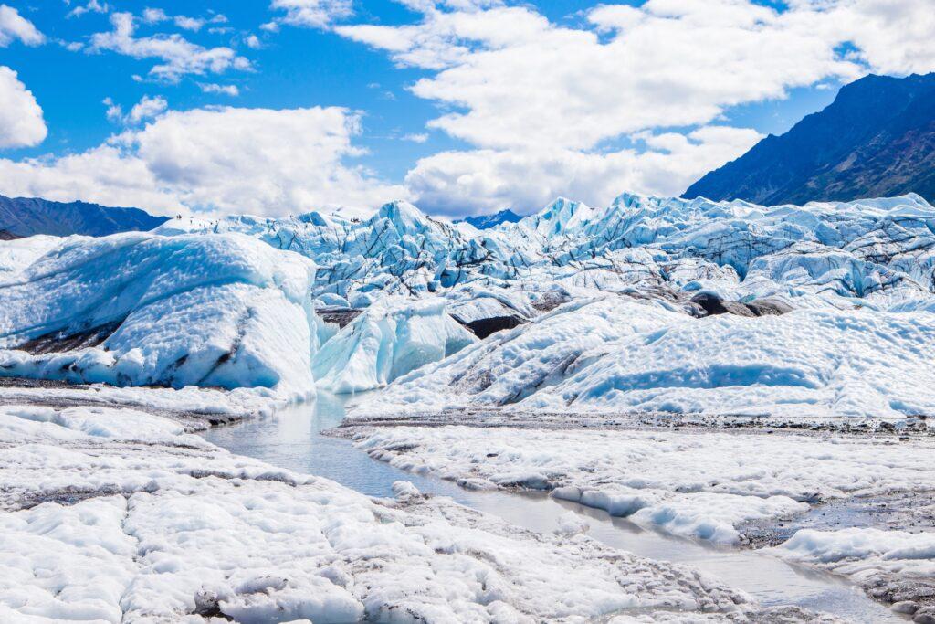 The Matanuska Glacier in Anchorage, Alaska.