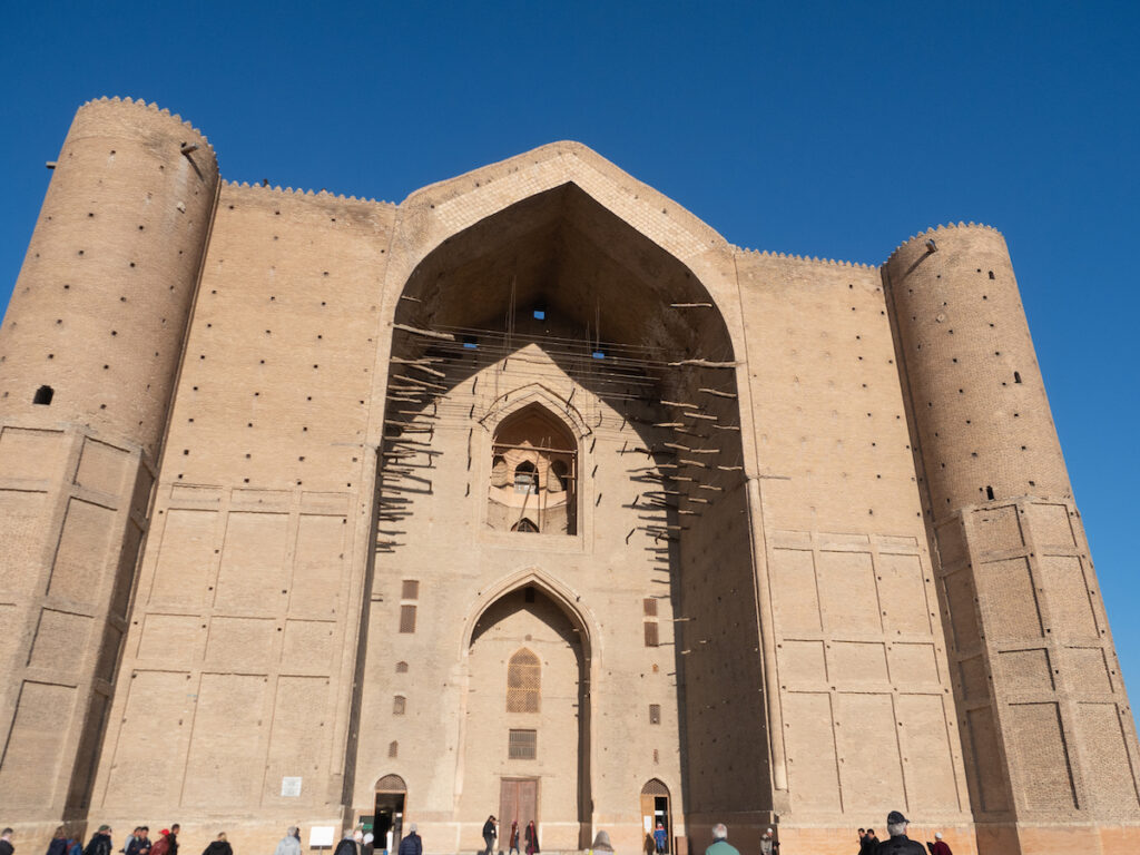 The Mausoleum of Khoja Ahmed Yasawi in Turkistan.
