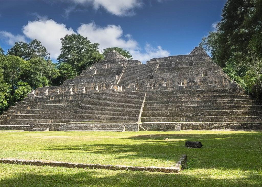 The Mayan ruins at Caracol.