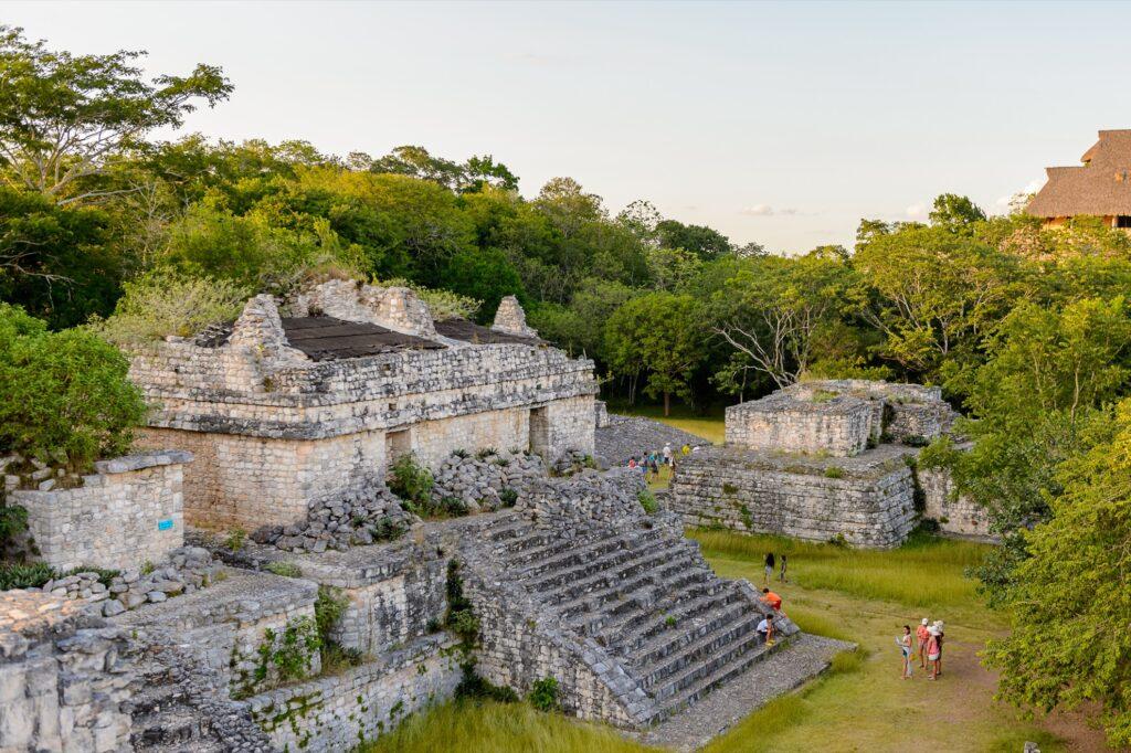 The Mayan ruins at Ek Balam.