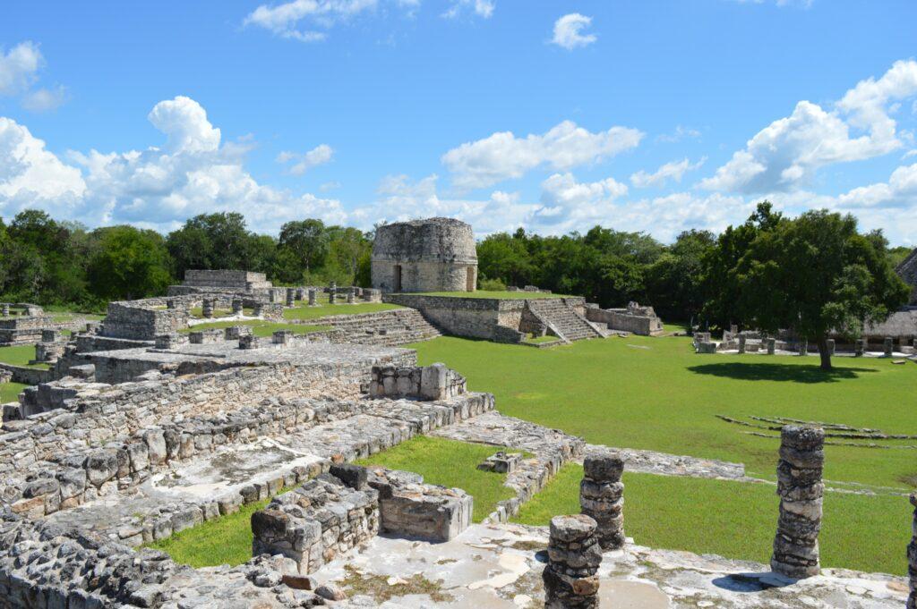 The Mayan ruins at Mayapan.