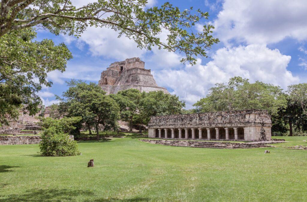 The Mayan ruins at Uxmal.