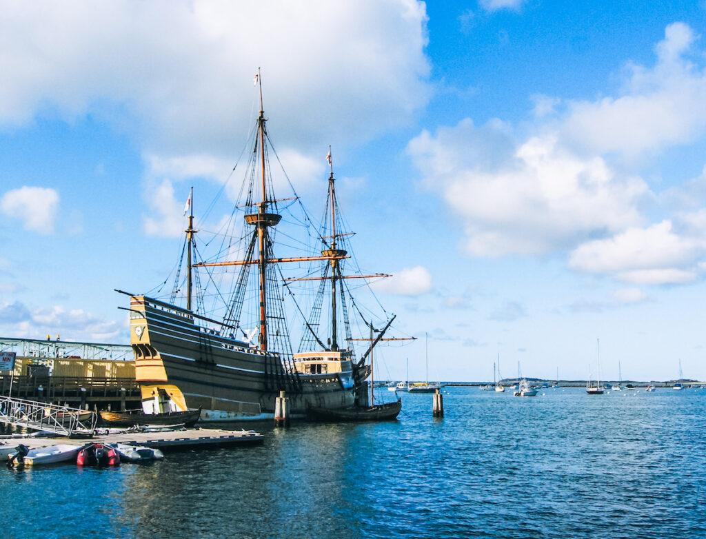The Mayflower ship.