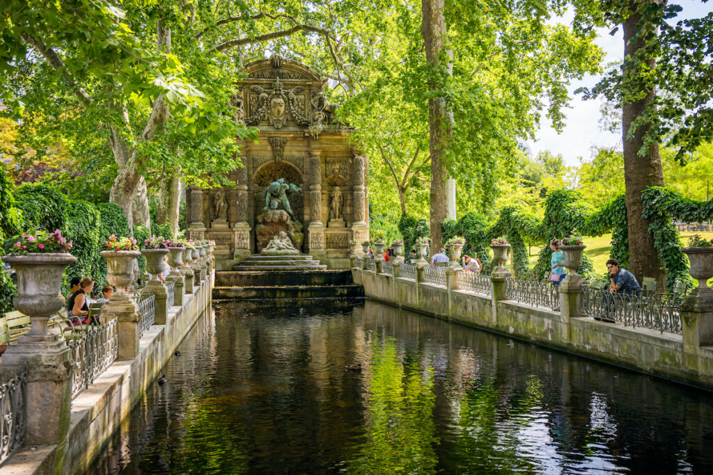 The Medici Fountain at Paris's Luxembourg Gardens.