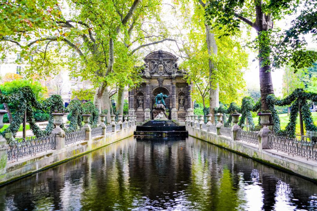 The Medici Fountain in the Luxemborg Gardens.
