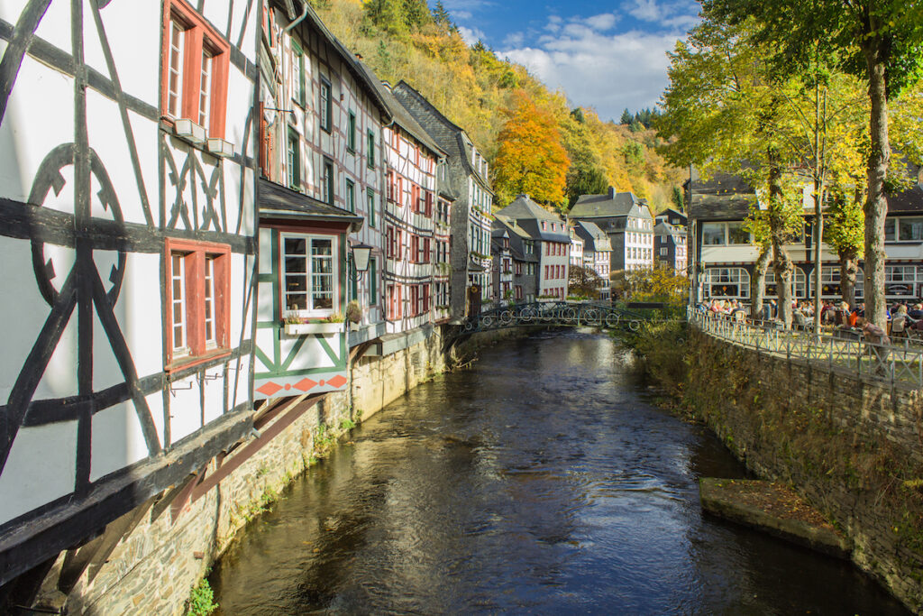 The medieval town of Monschau in Germany.