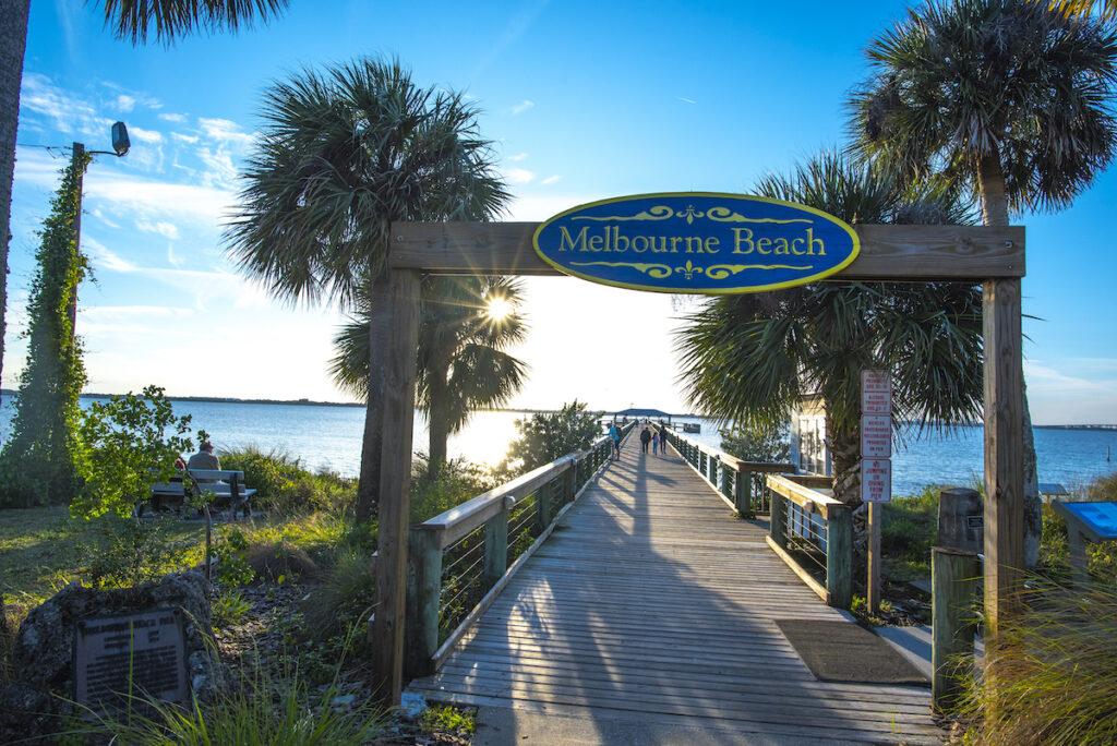The Melbourne Beach Pier along Florida's Space Coast.
