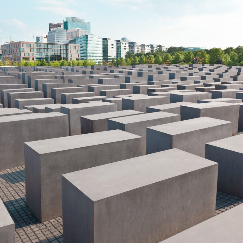 The Memorial To The Murdered Jews Of Europe in Berlin.