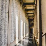 The memorial wall at the Menin Gate in Belgium.