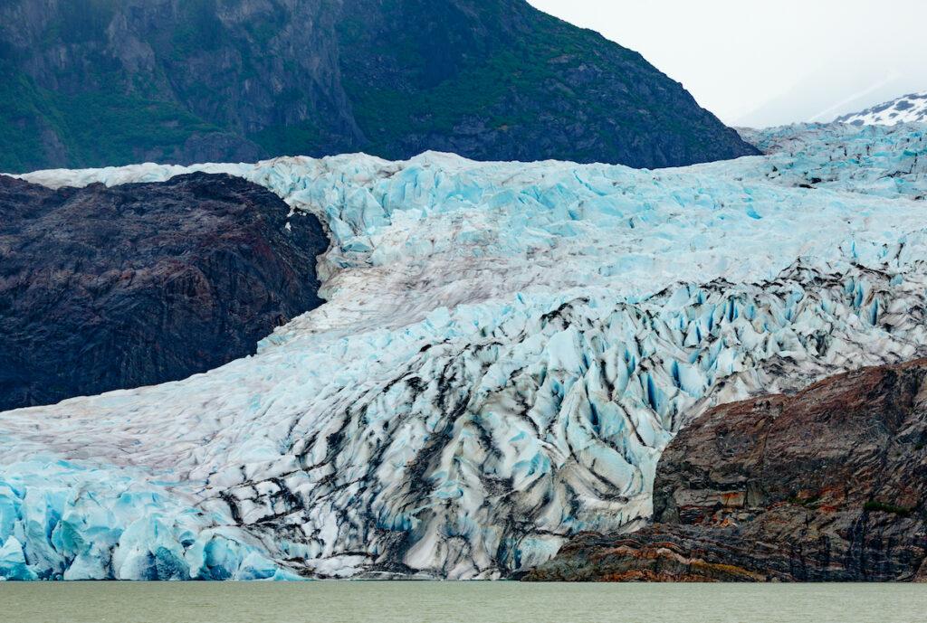 The Mendenhall Glacier near Juneau, Alaska.