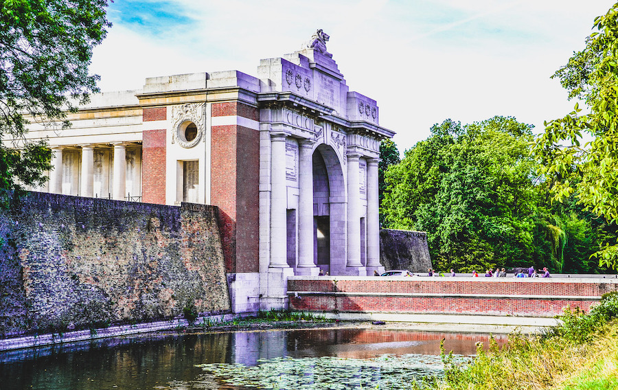 The Menin Gate at the entrance to Ypres.