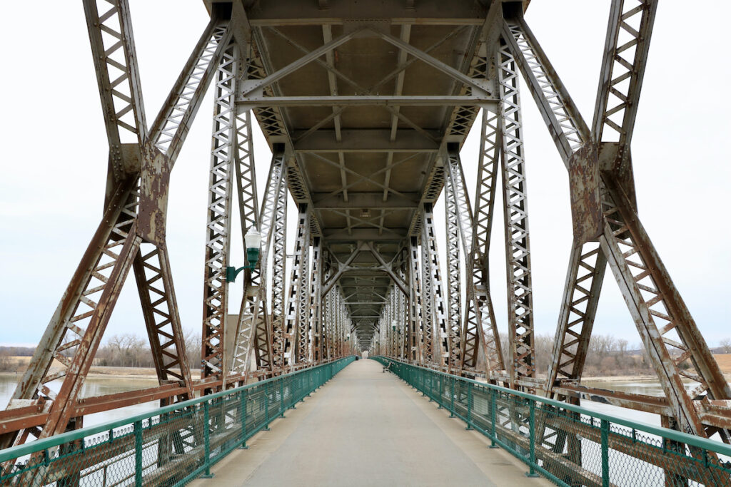 The Meridian Bridge in Yankton, South Dakota.